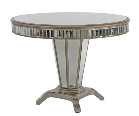 Bellagio Round Mirrored Entrance Table