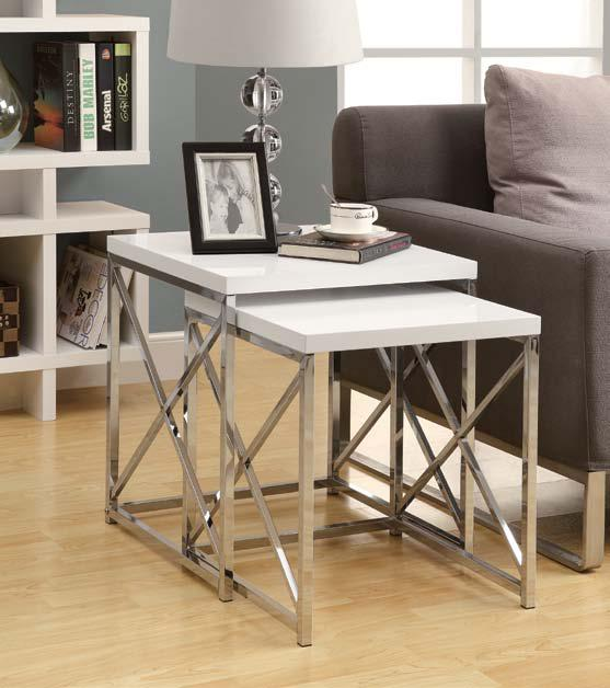 Broadway Nesting Table White Toronto Furniture Rental For Home Staging By Stagers Source