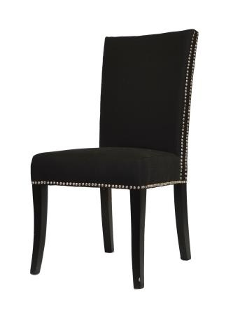 Princess black toronto furniture rental for home staging for Studded dining room chairs
