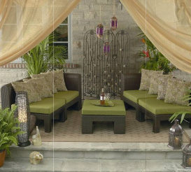 Outdoor Seating Set Rental For Home Staging By Luxury Furniture In Toronto