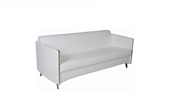 Pedro Leather Sofa White | Toronto Furniture Rental for Home ...