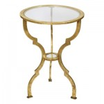 Golden Traditional End Table