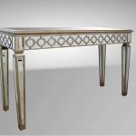 Gold Sofa Table W Circles